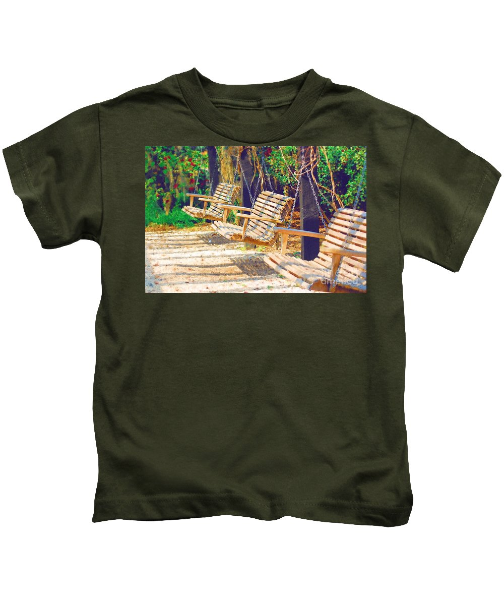 Swing Kids T-Shirt featuring the photograph Have A Seat Relax by Donna Bentley