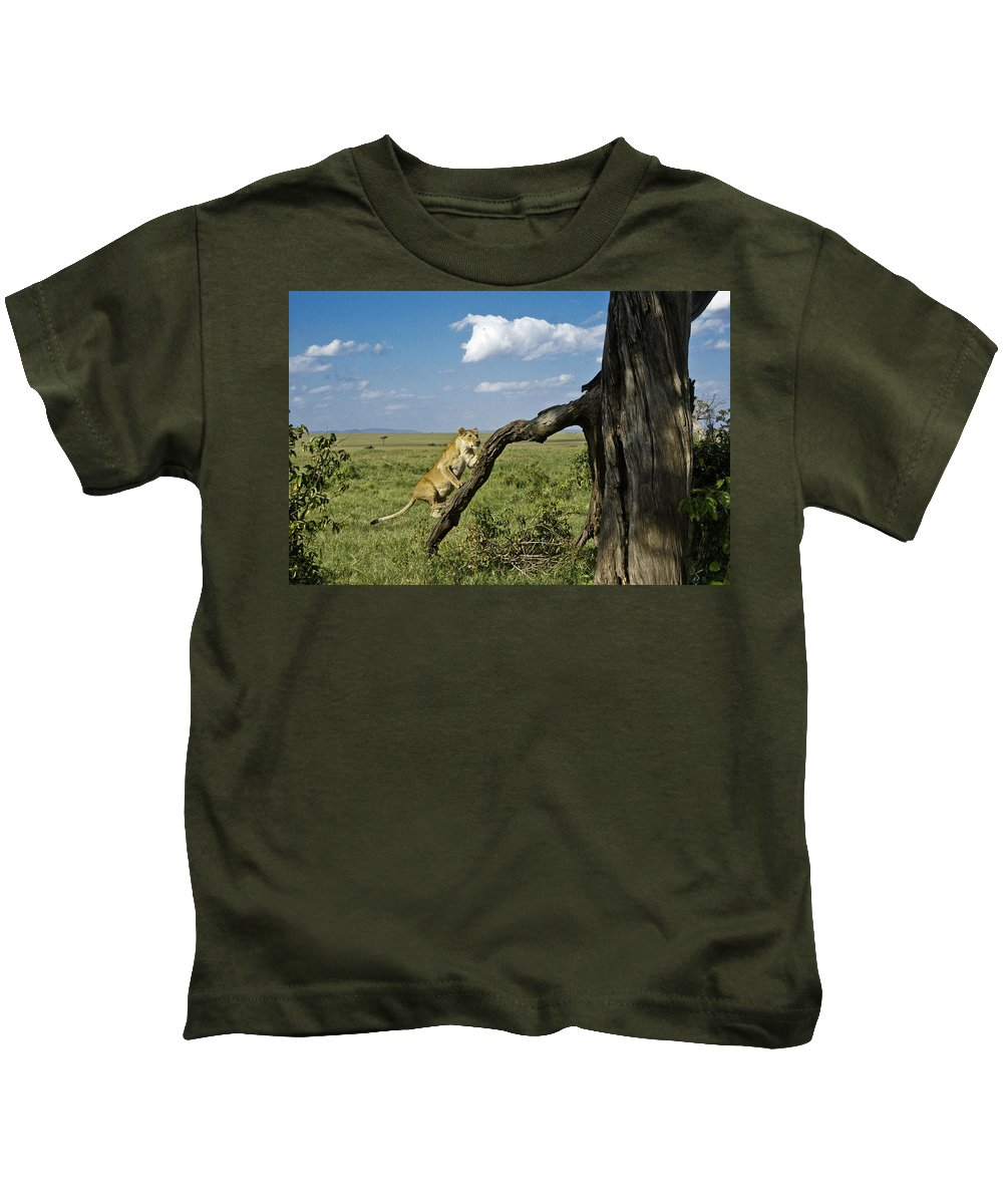 Africa Kids T-Shirt featuring the photograph Heading For A High Spot by Michele Burgess