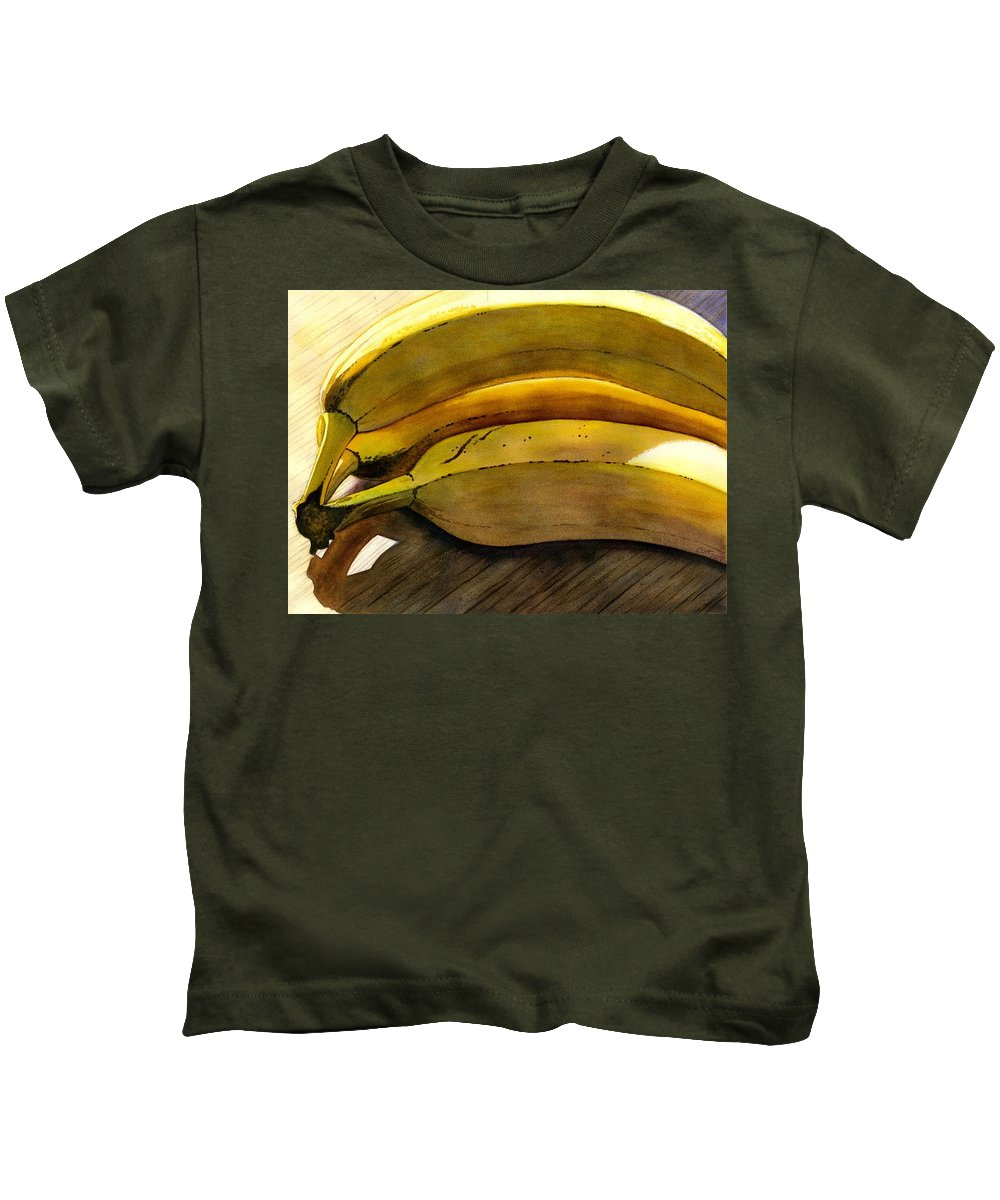 Bananas Kids T-Shirt featuring the painting Heart Smart by Catherine G McElroy