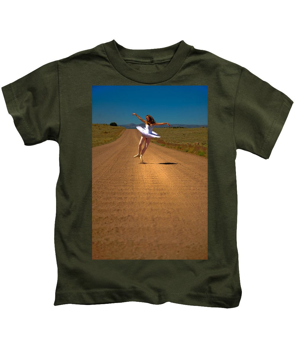 Ballet Kids T-Shirt featuring the photograph Heel Clicks On The Washboard by Scott Sawyer