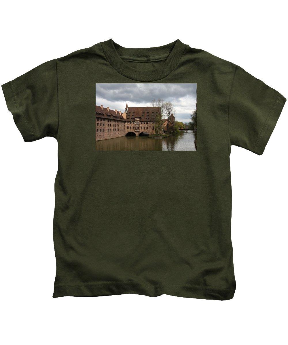Asylum Kids T-Shirt featuring the photograph Heilig Geist Spital - Nuremberg by Christiane Schulze Art And Photography