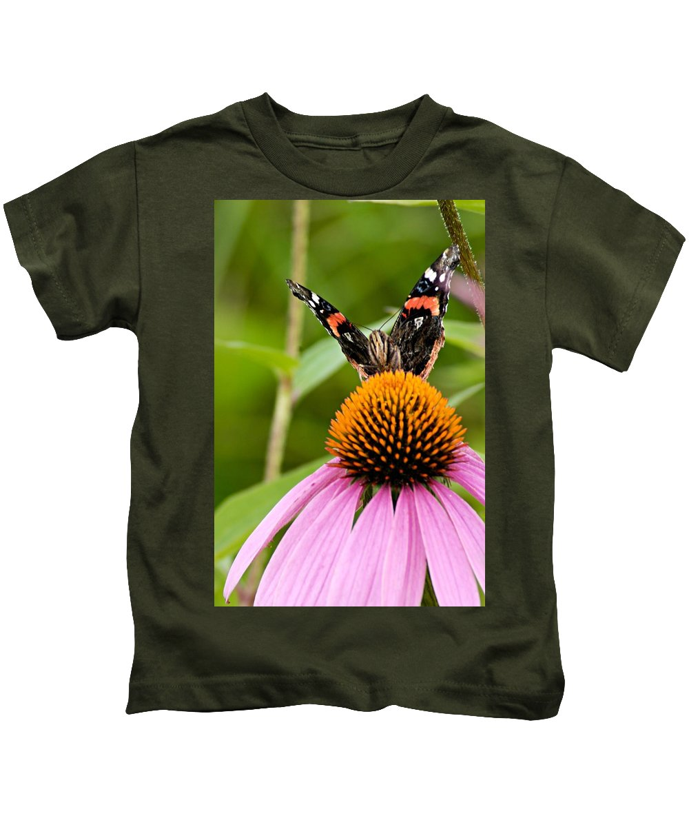 Photography Kids T-Shirt featuring the photograph Here Is Looking At You by Larry Ricker