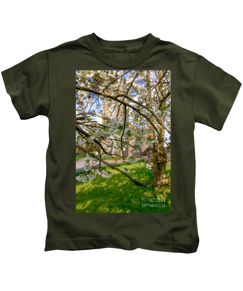 Cherry Blossom Kids T-Shirt featuring the photograph Hidden Church 1 by Marc Daly