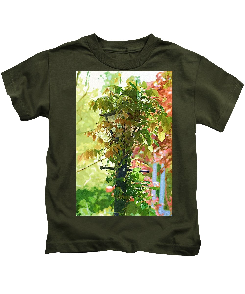 Lamp Kids T-Shirt featuring the photograph Hidden Lamp by Donna Bentley