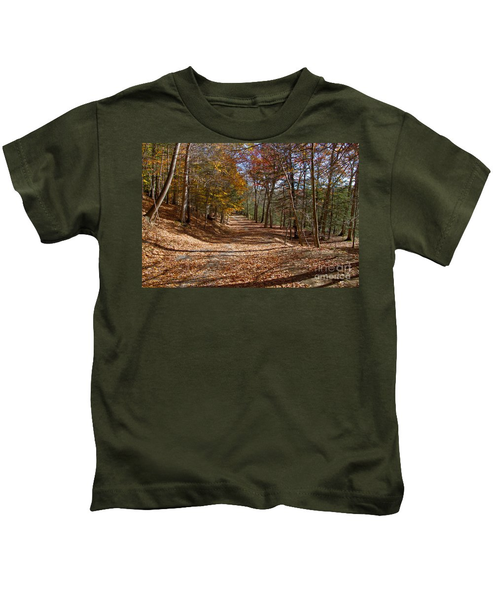 Road Kids T-Shirt featuring the photograph Hidden Road by William Norton