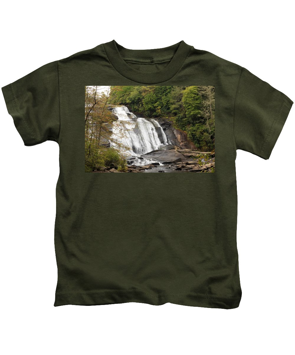 Autumn Kids T-Shirt featuring the photograph High Falls by Travis Rogers