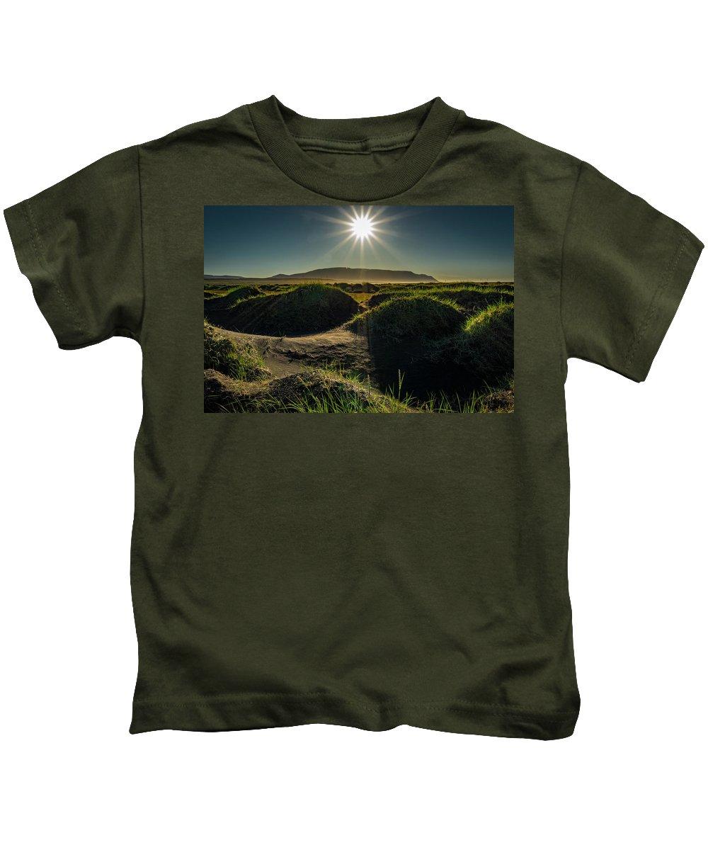 Landscape Kids T-Shirt featuring the photograph Hills And Grass by Vaughn Bender
