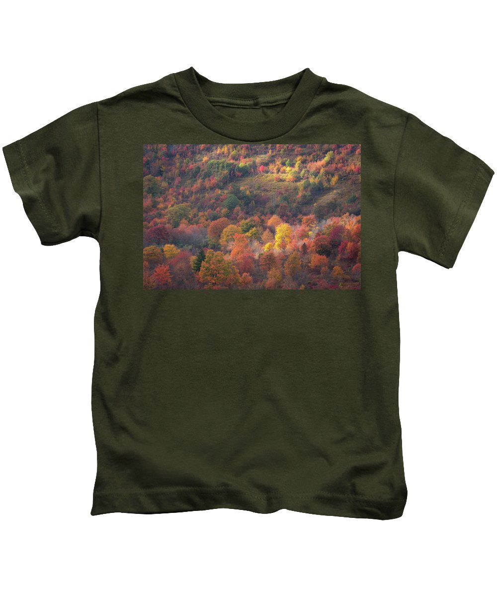 2016 Kids T-Shirt featuring the photograph Hillside Rhythm Of Autumn by JW Photography