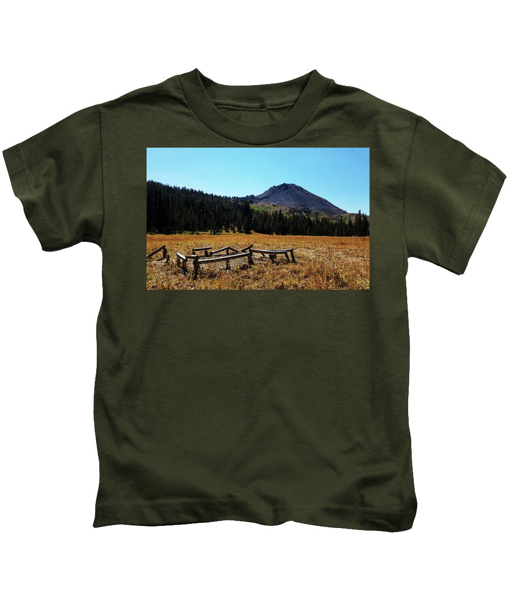 Highland Lakes Kids T-Shirt featuring the photograph Hiram Peak by Aaron James