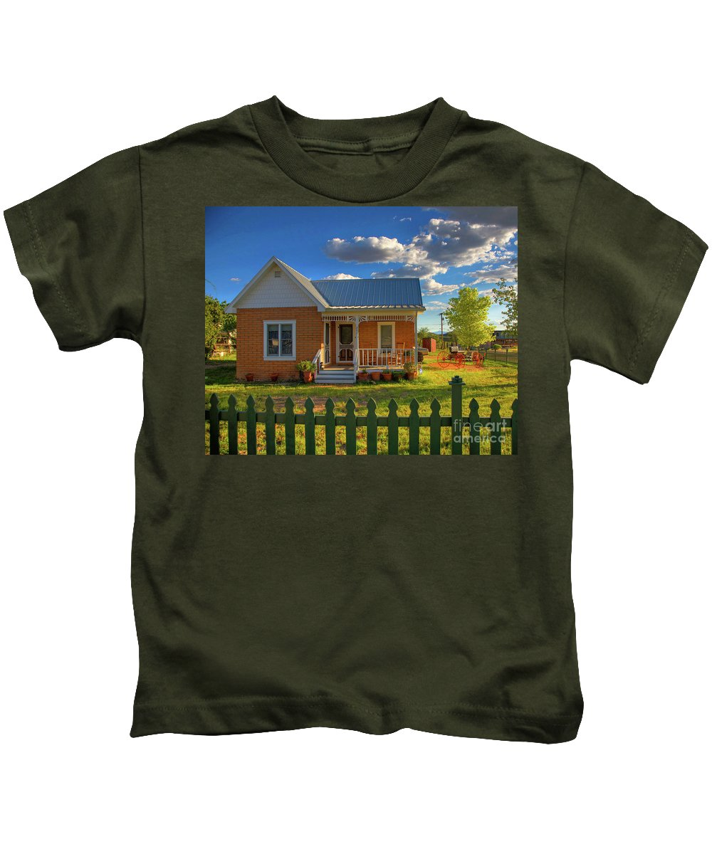 Landscape Kids T-Shirt featuring the photograph Historic Tombstone In Arizona by Charlene Mitchell
