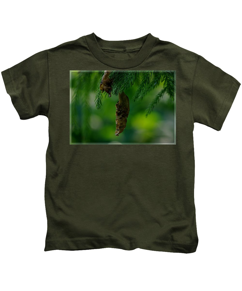 Green Kids T-Shirt featuring the photograph Holding Onto The Past by Jenny Gandert