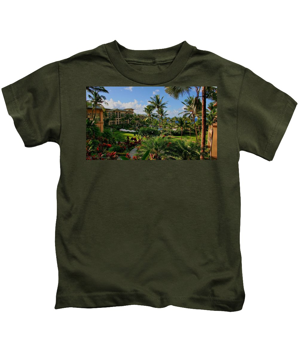 Holiday Kids T-Shirt featuring the digital art Holiday by Dorothy Binder