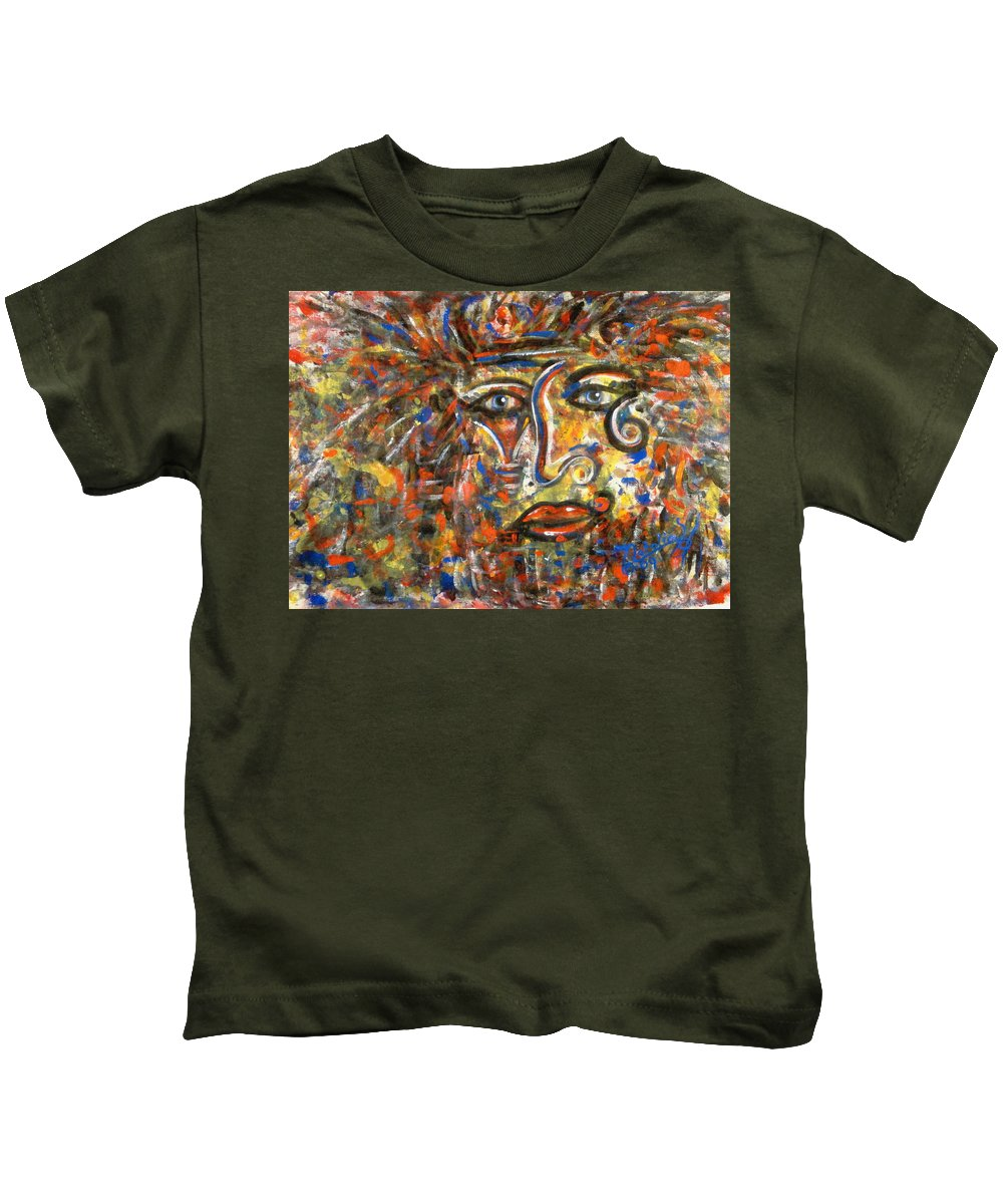 Free Expressionism Kids T-Shirt featuring the painting Holy Man by Natalie Holland