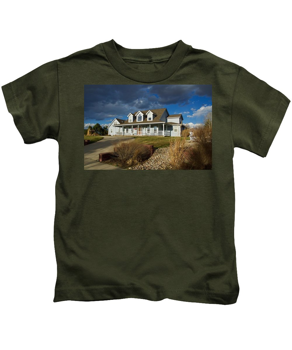 Home Kids T-Shirt featuring the photograph Home Sweet Home by David Kaufman