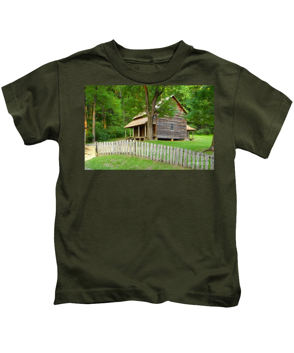 Home Kids T-Shirt featuring the photograph Homestead by David Lee Thompson