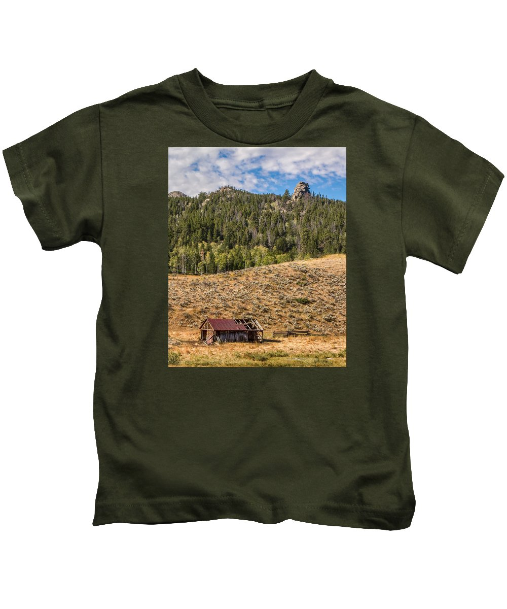 Shack Kids T-Shirt featuring the photograph Homestead by Jayme Spoolstra