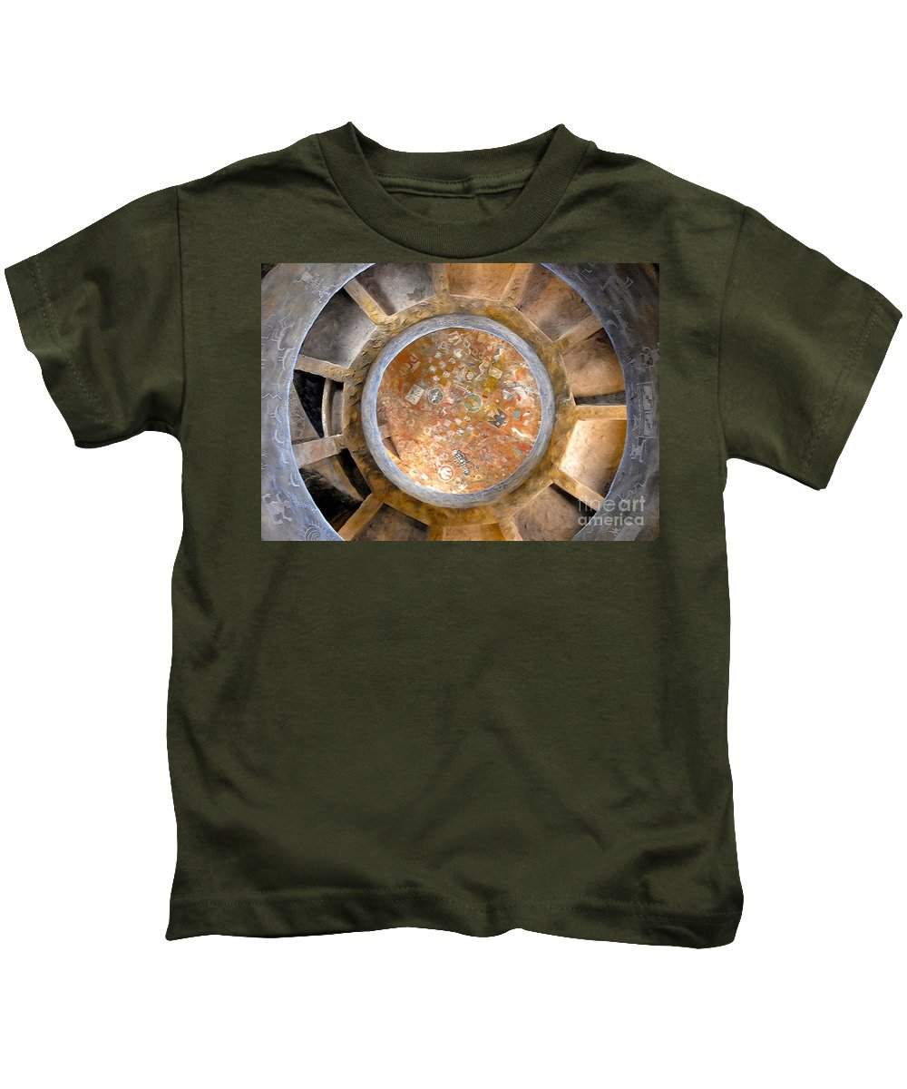 Hopi Indians Kids T-Shirt featuring the photograph Hopi Spirit Circle by David Lee Thompson