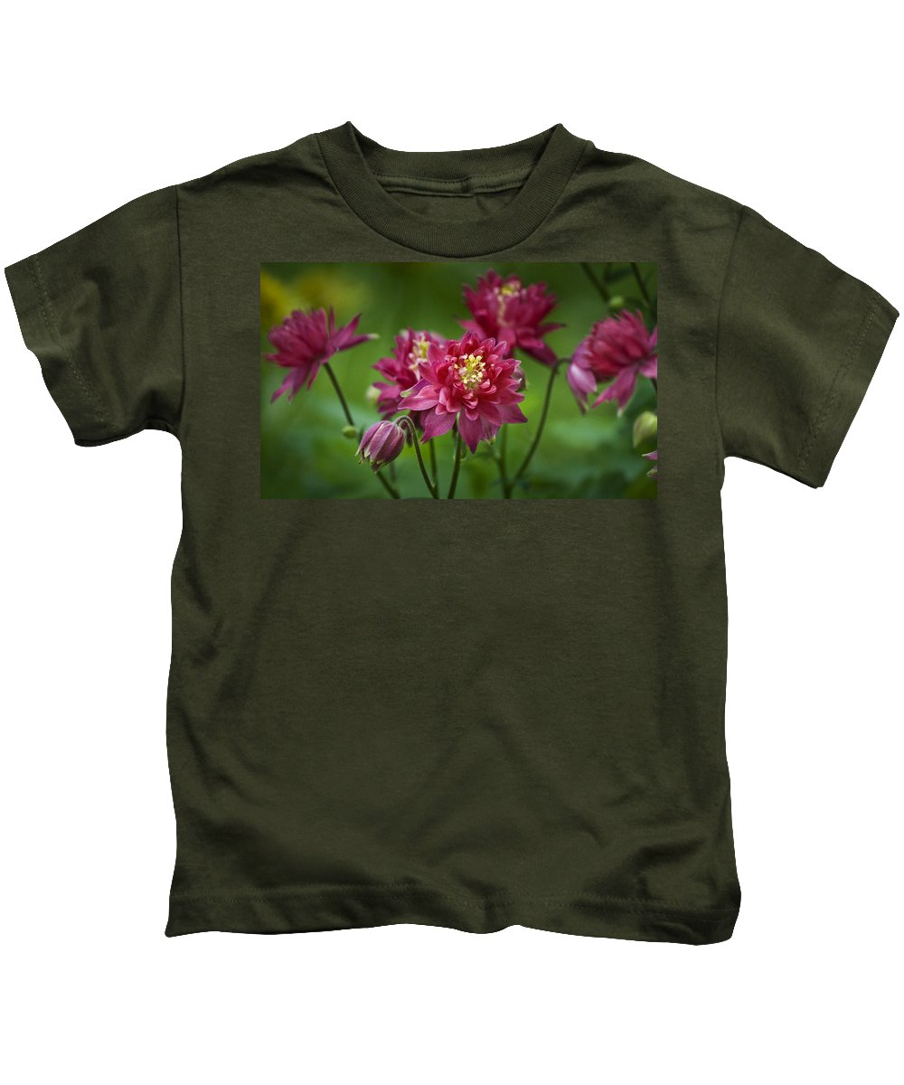 Columbine Kids T-Shirt featuring the photograph Hot Pink Columbine by Teresa Mucha