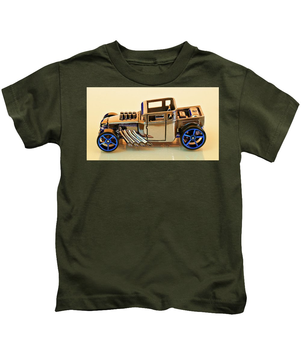 Bone Shaker Kids T-Shirt featuring the photograph Hot Wheels Bone Shaker Hotwheels by Bruce Roker