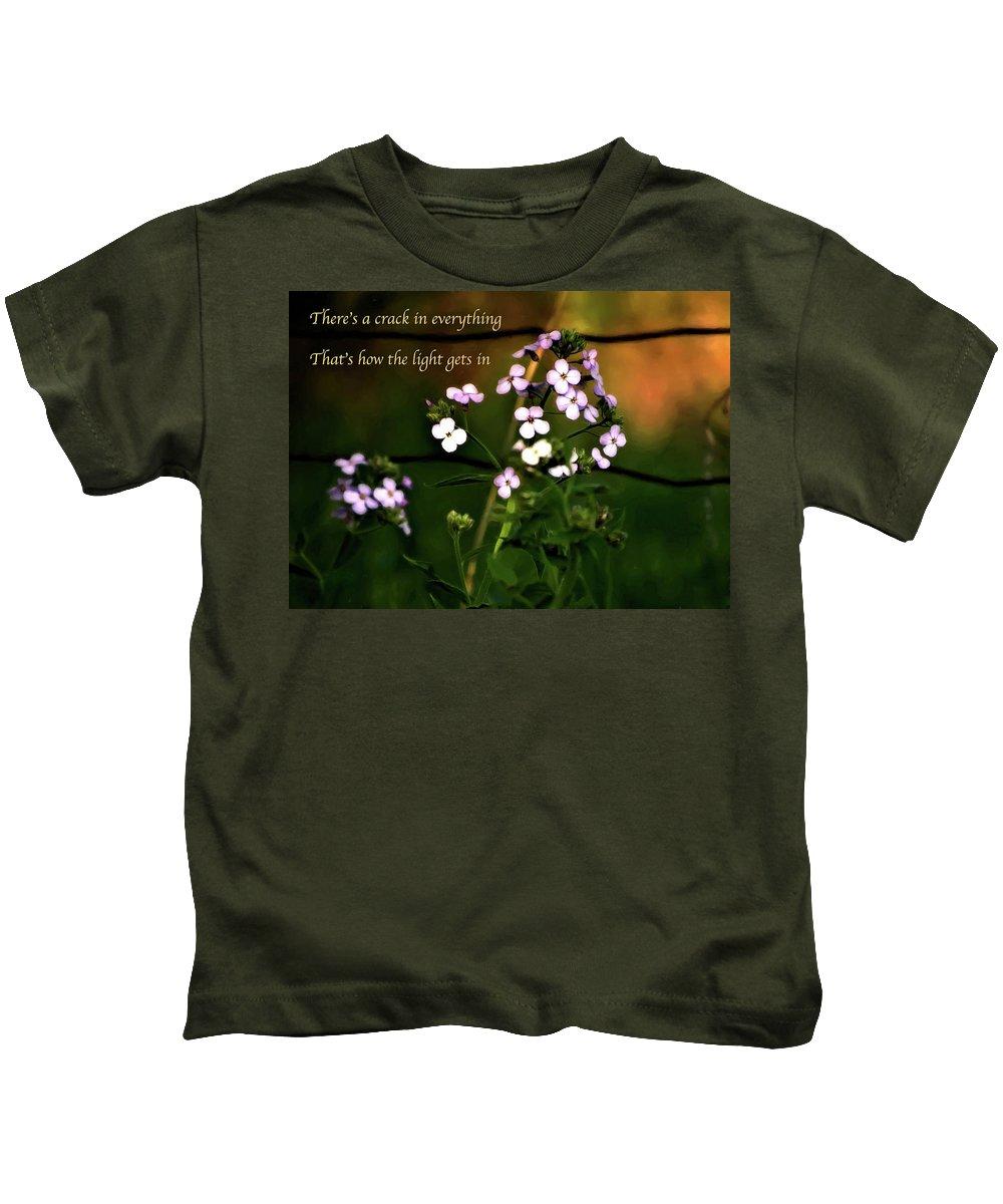 Steve Harrington Kids T-Shirt featuring the photograph How The Light Gets In by Steve Harrington
