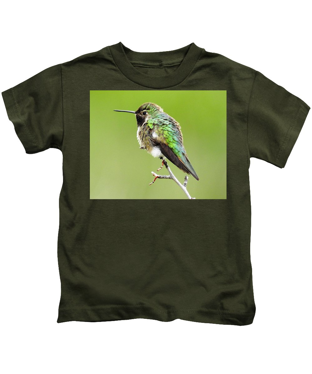 Humming Kids T-Shirt featuring the photograph Hummingbird by Nicole Belvill