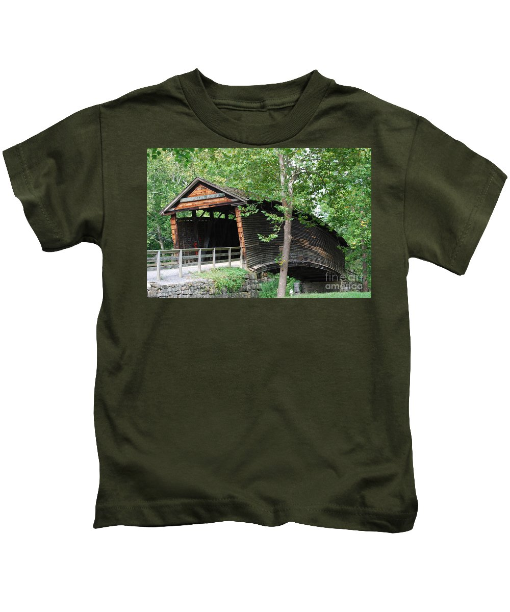 Rock Kids T-Shirt featuring the photograph Humpback Bridge by Eric Liller