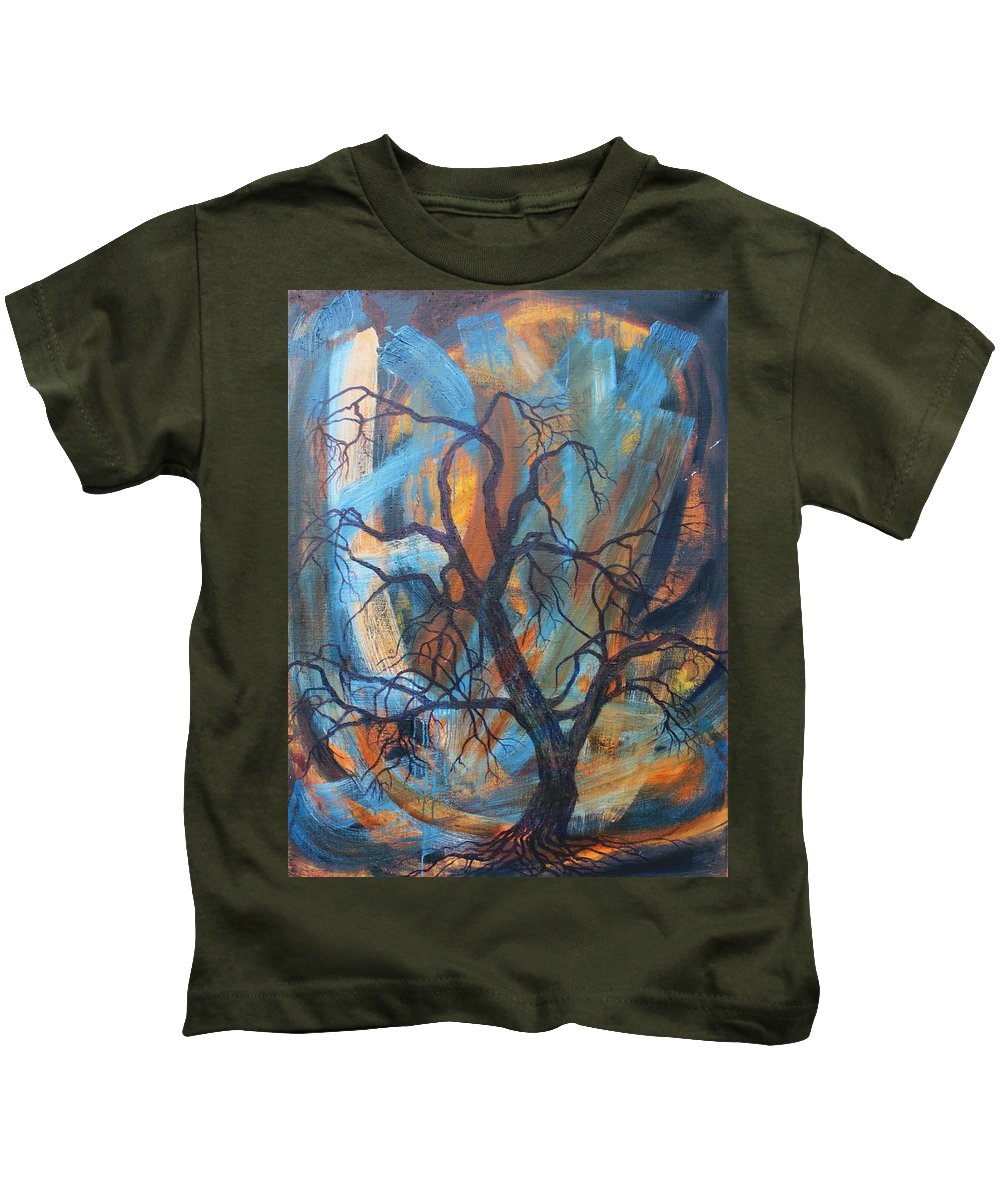 Hurricane Kids T-Shirt featuring the painting Hurricane by Vera Smith