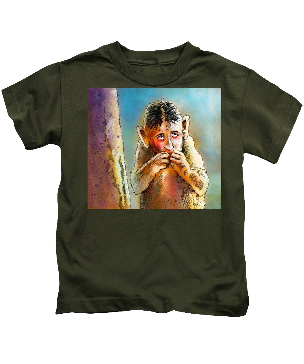 Love Kids T-Shirt featuring the painting I Am So Sorry by Miki De Goodaboom