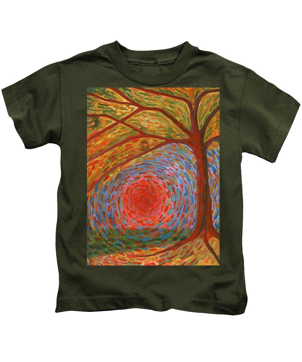 Colour Kids T-Shirt featuring the painting I Die by Wojtek Kowalski