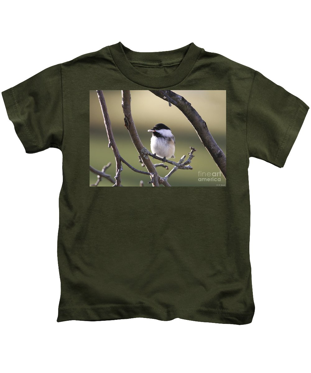 Bird Kids T-Shirt featuring the photograph I Finally Got It by Deborah Benoit
