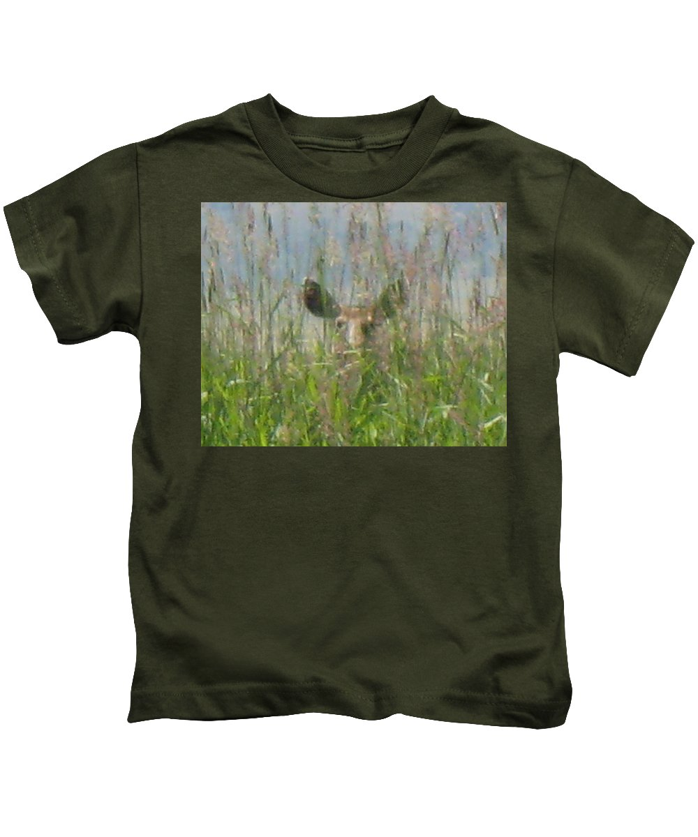 Wildlife Kids T-Shirt featuring the photograph I See You by Darren Rudd