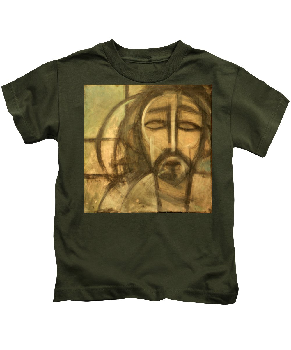Christ Kids T-Shirt featuring the painting Icon Number 6 by Tim Nyberg