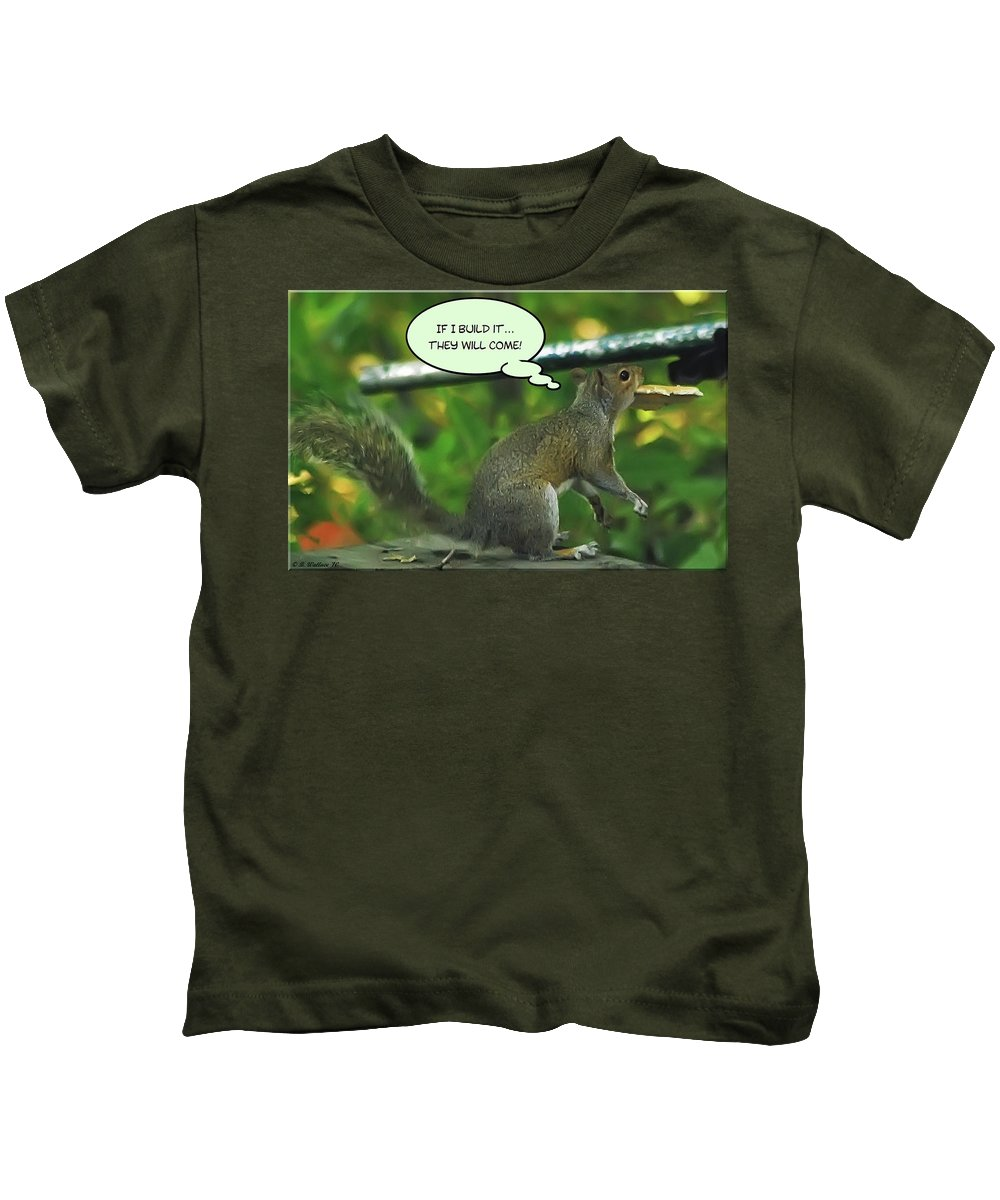 2d Kids T-Shirt featuring the photograph If I Build It by Brian Wallace