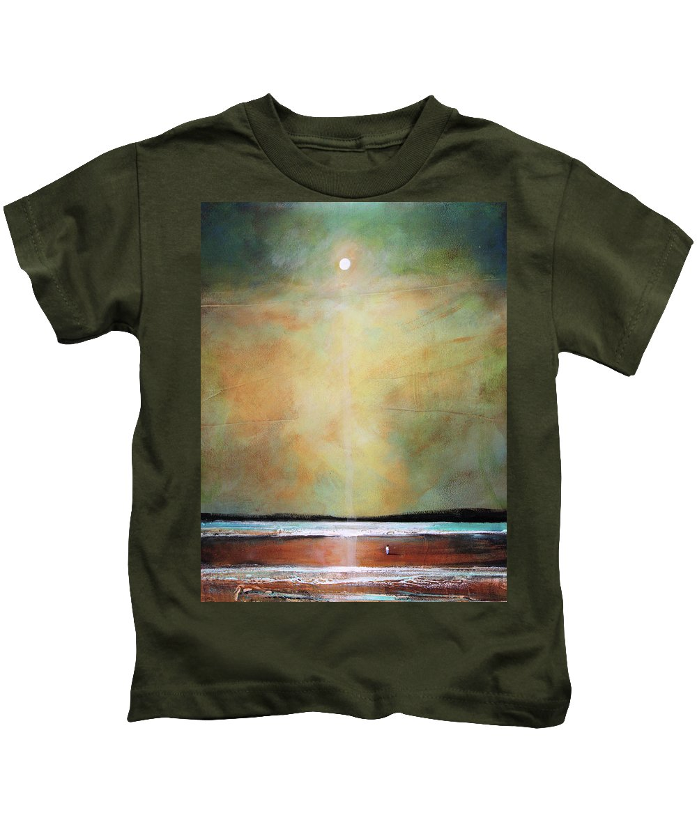 Spiritual Kids T-Shirt featuring the painting I'm Never Alone by Toni Grote