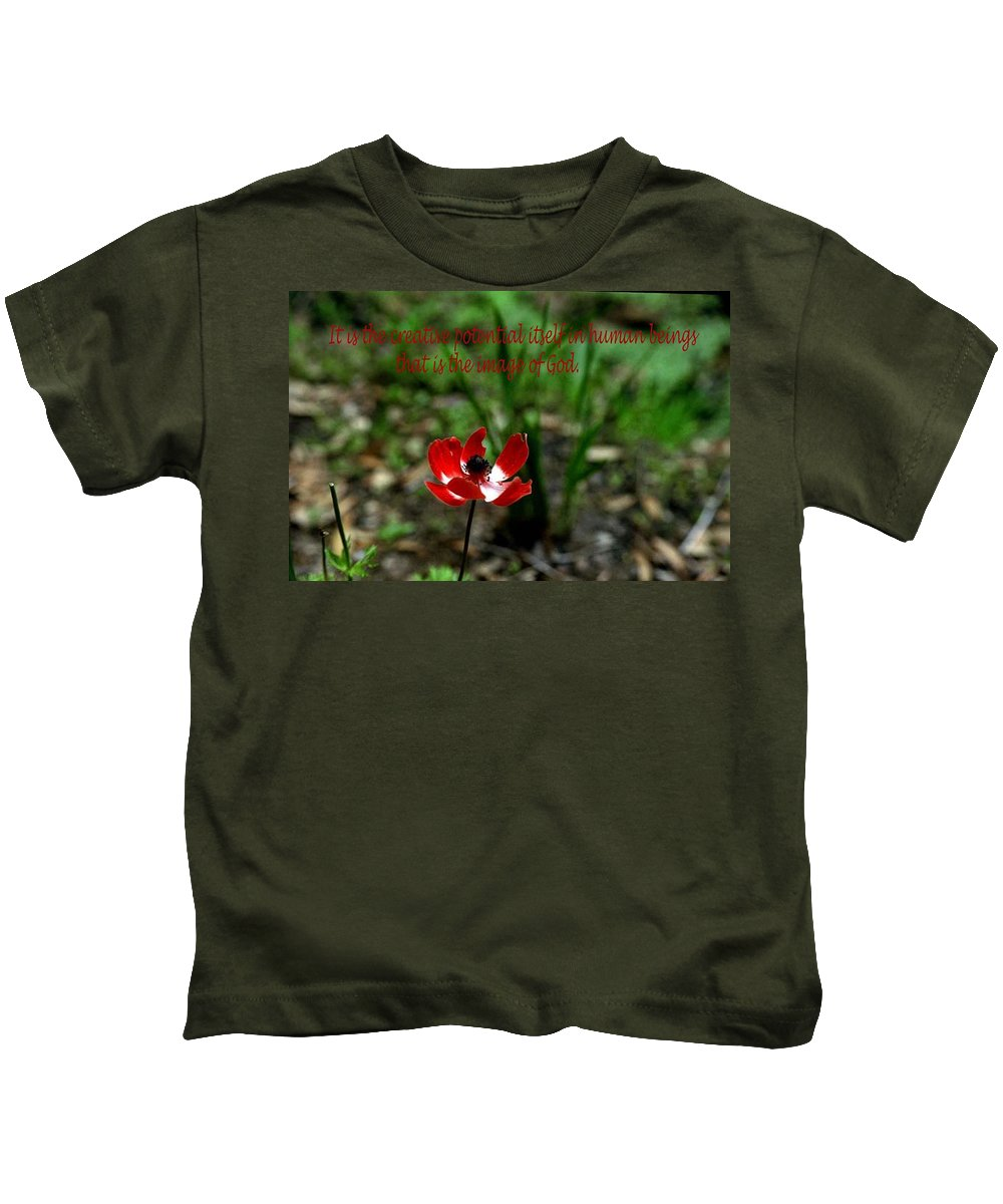Inspirational Kids T-Shirt featuring the photograph Image Of God by Gary Wonning