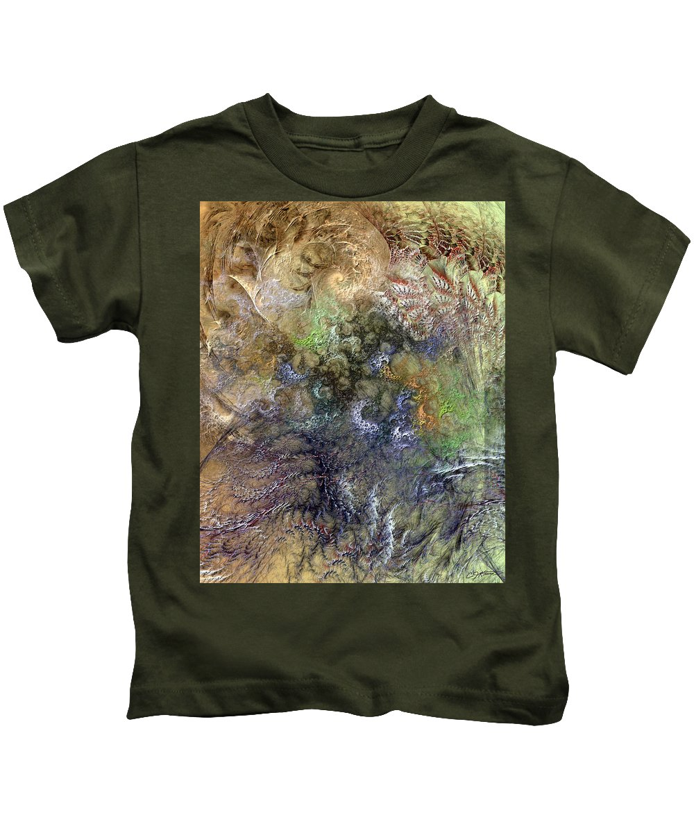Abstract Kids T-Shirt featuring the digital art Imperialistic Miasma by Casey Kotas