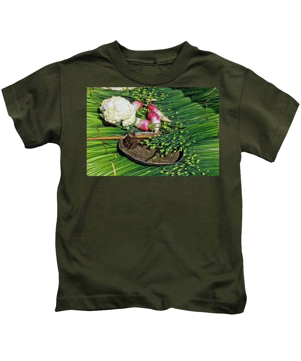 China Kids T-Shirt featuring the photograph In A Chinese Market by Michele Burgess