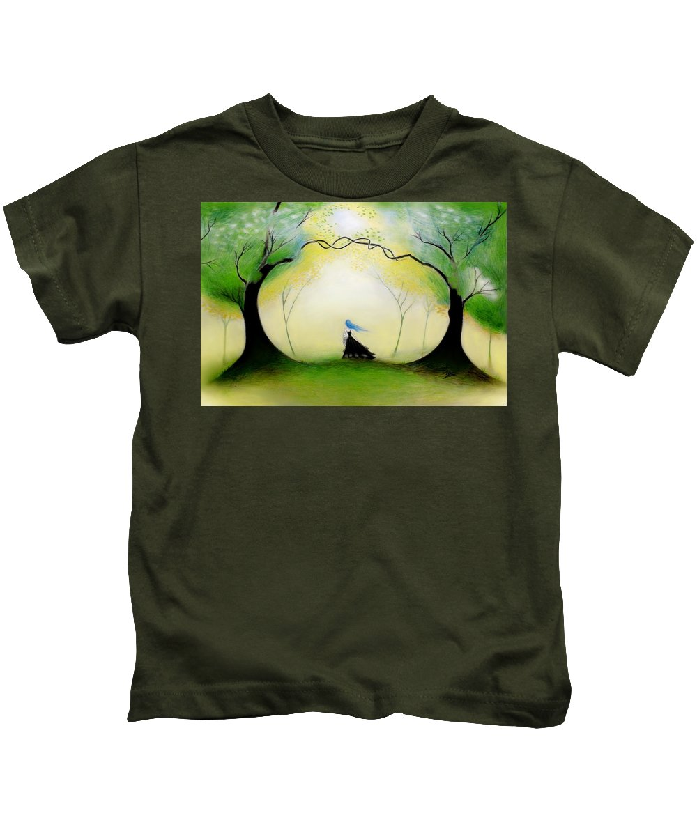 Forest Kids T-Shirt featuring the drawing In The Forest by Ilias Patrinos