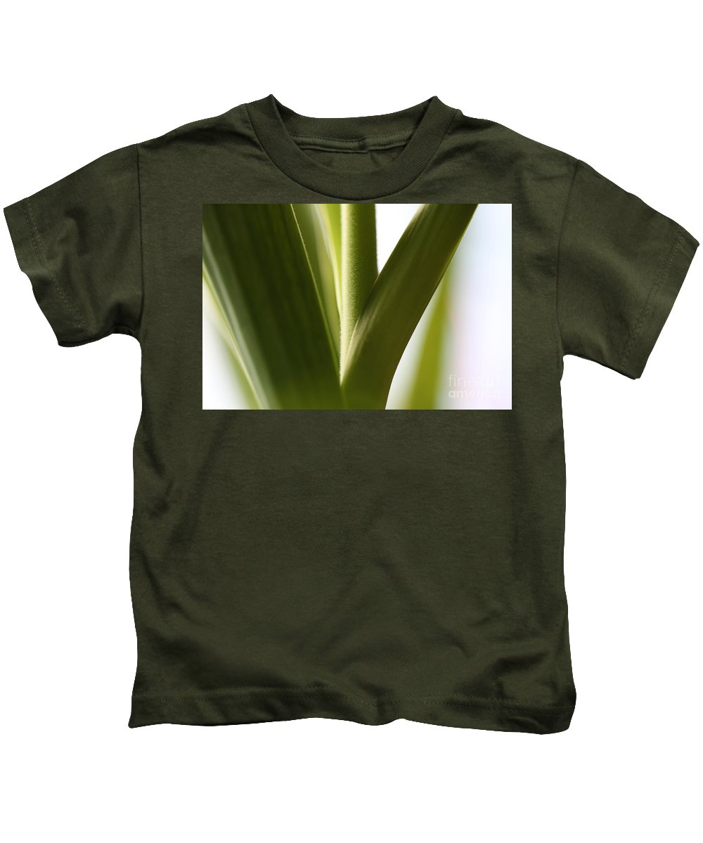 Leaves Kids T-Shirt featuring the photograph In The Spotlight Of Support by Amanda Barcon