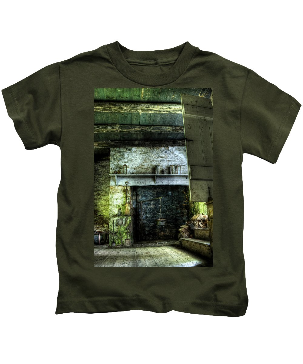 Farm Kids T-Shirt featuring the photograph In The Springhouse by Scott Wyatt