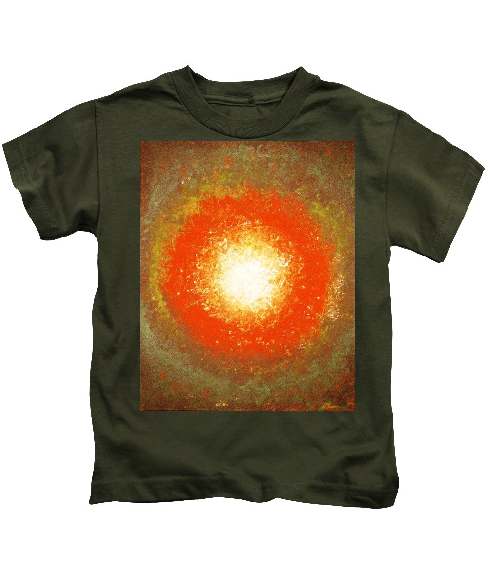 Original Kids T-Shirt featuring the painting Inception by Todd Hoover