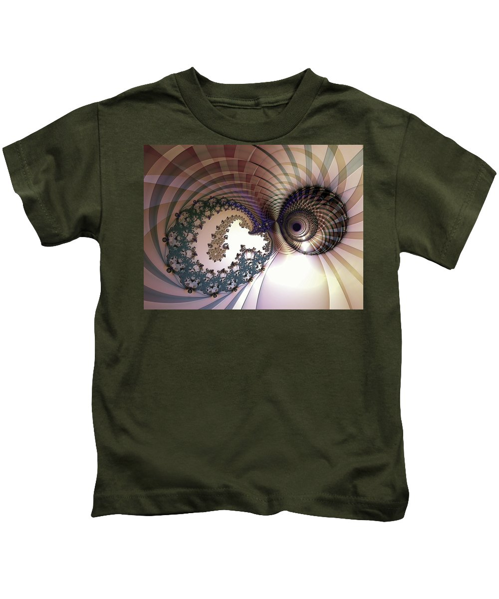 Abstract Kids T-Shirt featuring the digital art Incompatible Elements by Casey Kotas