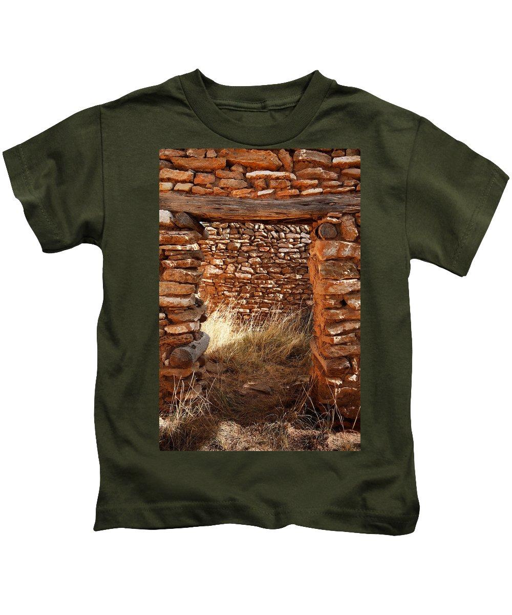 New Mexico Kids T-Shirt featuring the photograph Indian Ruins Doorway by Matt Suess