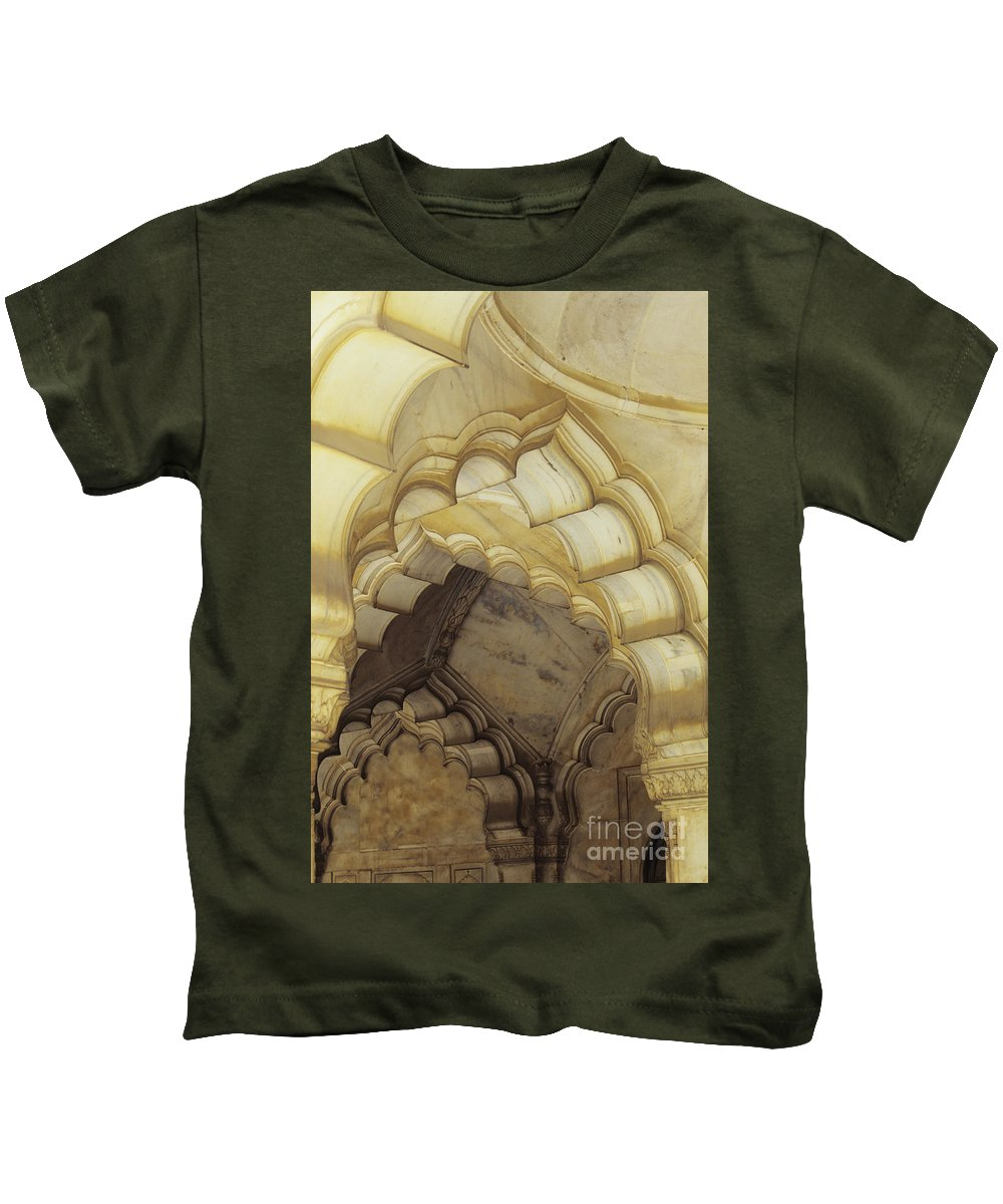 Arch Kids T-Shirt featuring the photograph Indian Temple Arches by Kyle Rothenborg - Printscapes