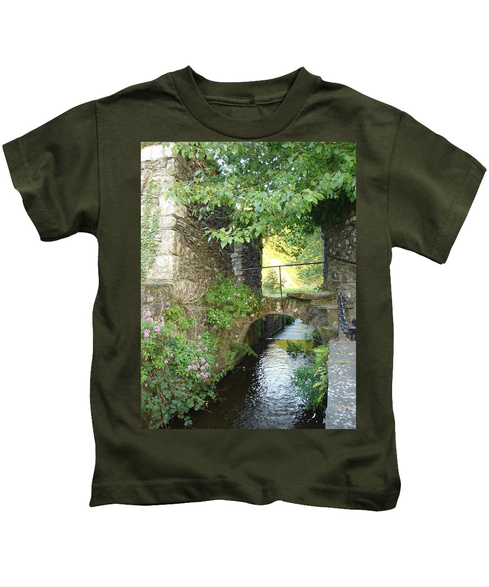 Inistioge Kids T-Shirt featuring the photograph Inistioge by Kelly Mezzapelle