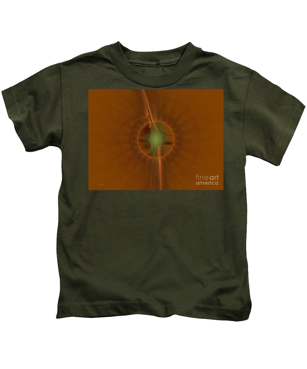 Digital Kids T-Shirt featuring the digital art Inner Sanctum by Deborah Benoit