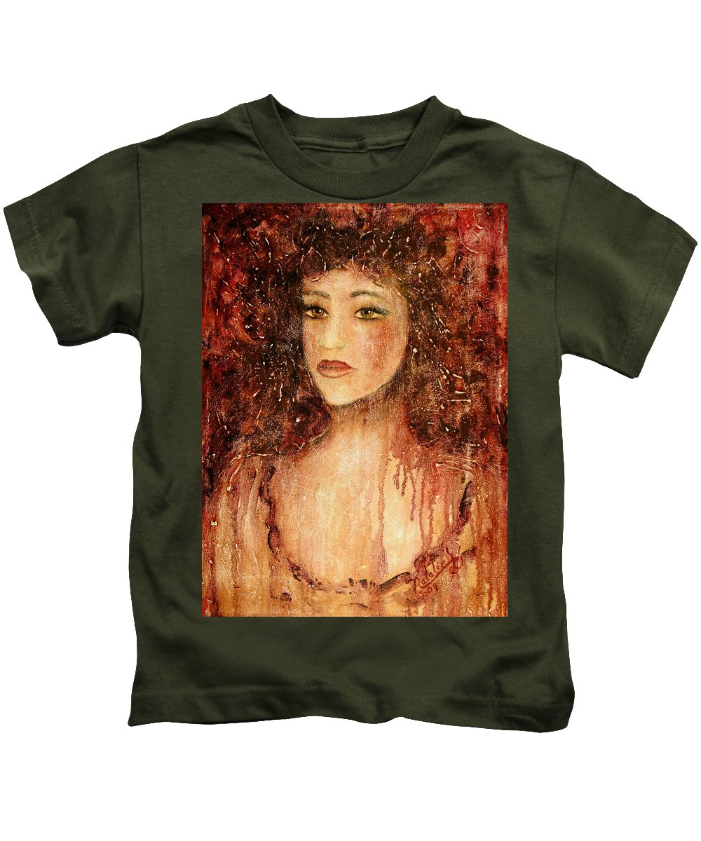 Innocence Kids T-Shirt featuring the painting Innocence by Natalie Holland