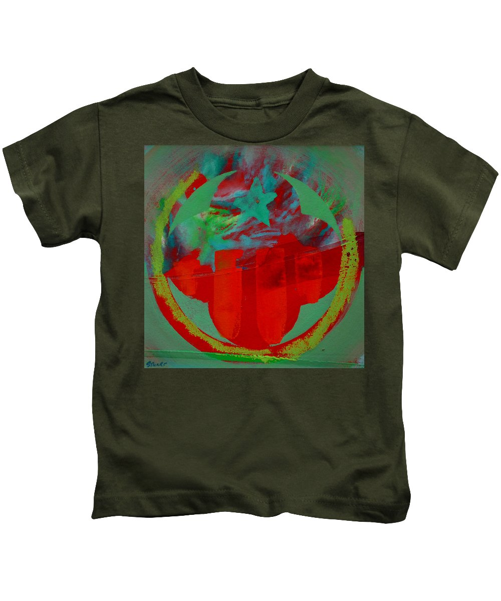 Usaaf Insignia Kids T-Shirt featuring the painting Insignia by Charles Stuart