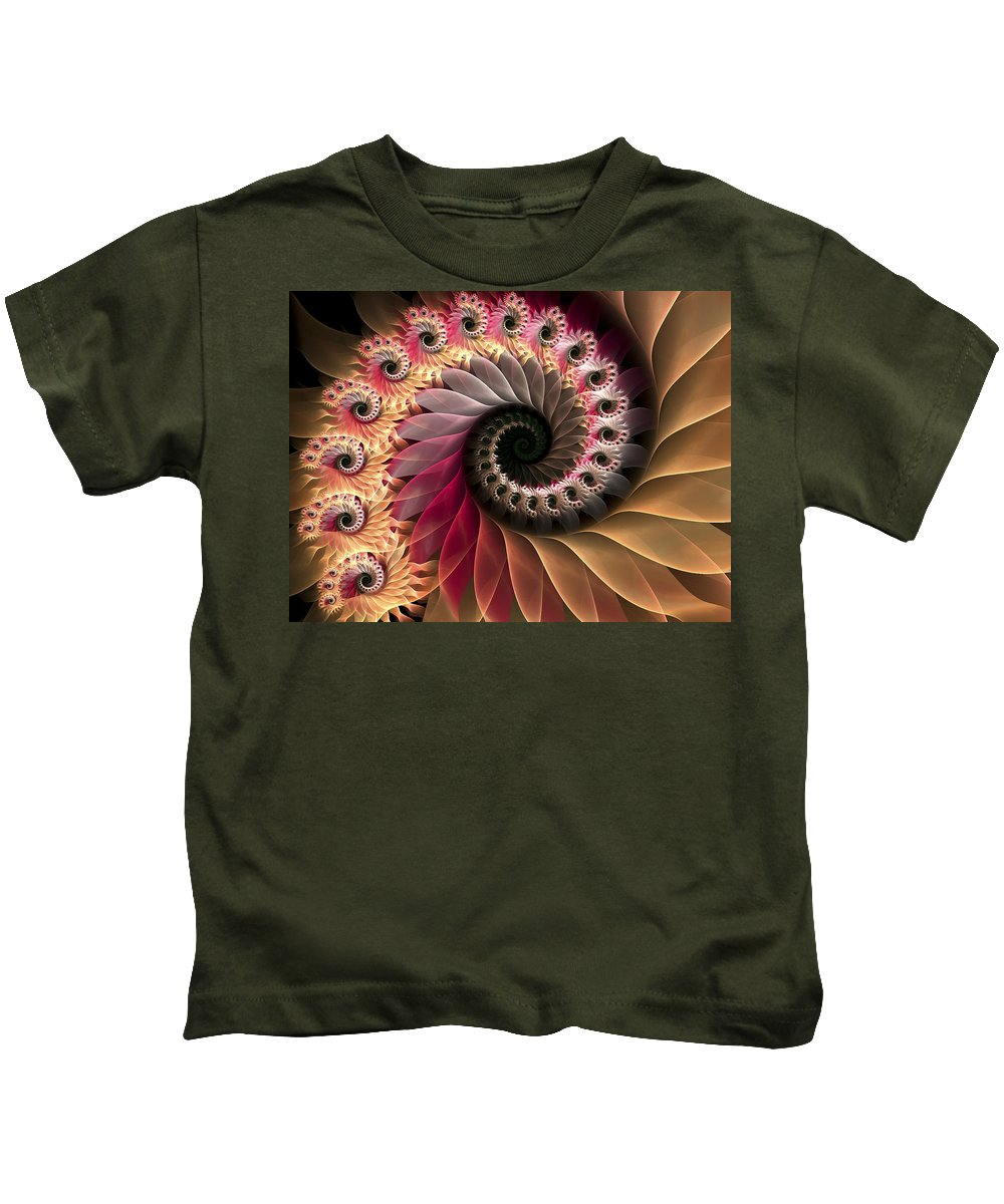 Fractal Kids T-Shirt featuring the digital art Inspiraled by Amorina Ashton