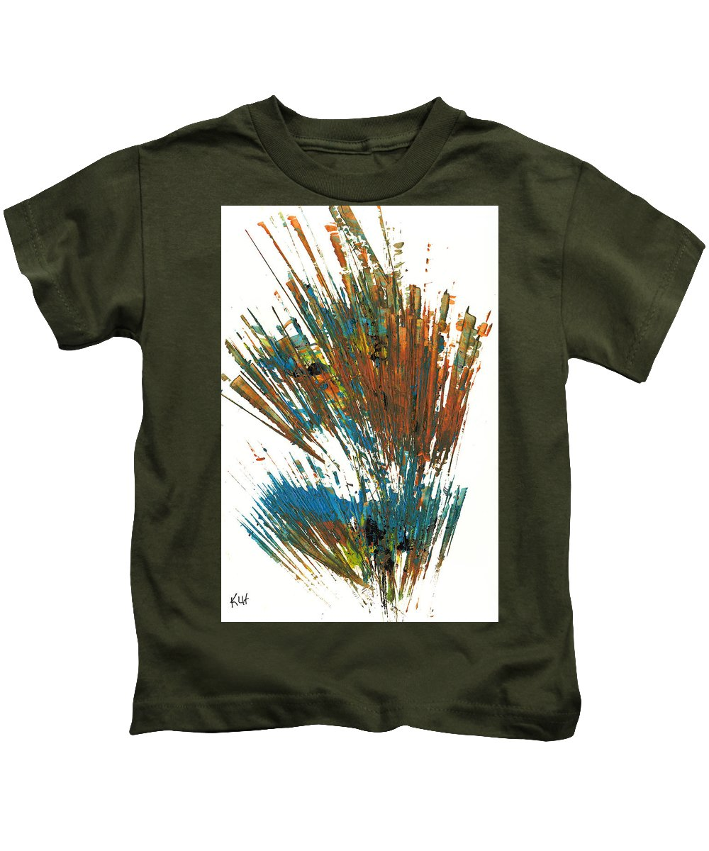 Intensive Painting Kids T-Shirt featuring the painting Intensive Abstract Expressionism Series 64.102511 by Kris Haas